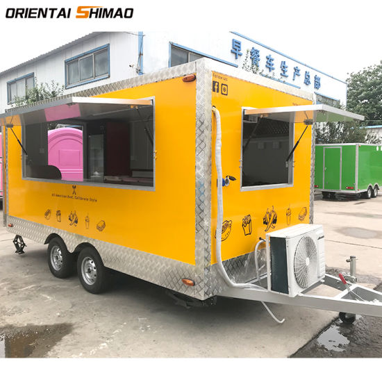 Beautiful Yellow Color Food Truck Trailer Mobile Kitchen Cart For Sale China Food Trailer Food Cart Made In China Com