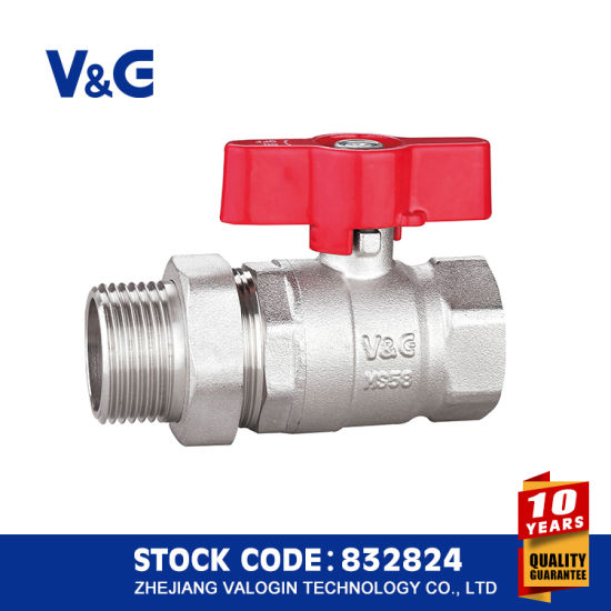 Valogin Butterfly Brass Ball Valve with Union Fxm pictures & photos