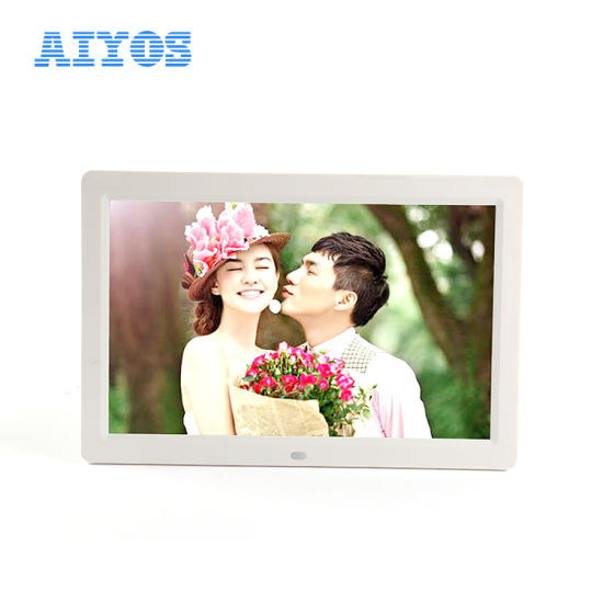 Full HD 1080P 12 Inch Plastic Photo Frame for Commercial Advertising Playing pictures & photos
