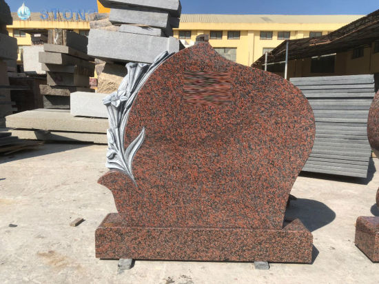 China Red Granite Tombstone Haobo Stone Wholesale Cheap Price Headstone