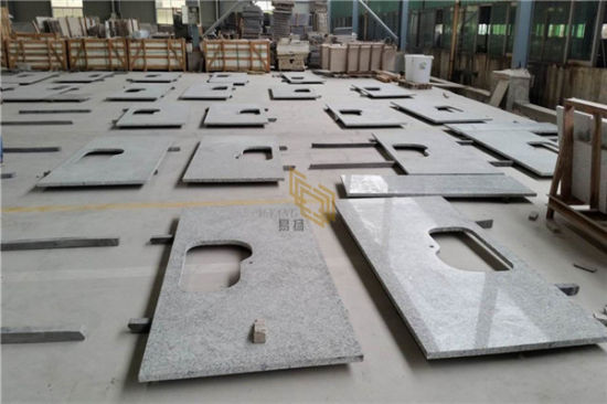 Grey White Granite for Countertop/Kitchen/Floor Polished/Hond Surface Slabs