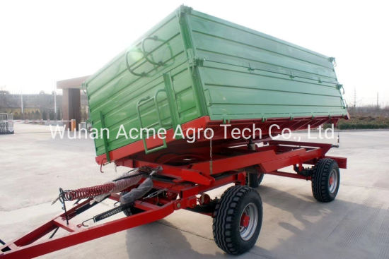 8 Ton Agricultural Trailer High Hurdles Double Axle 4 Wheel Farm Trailer