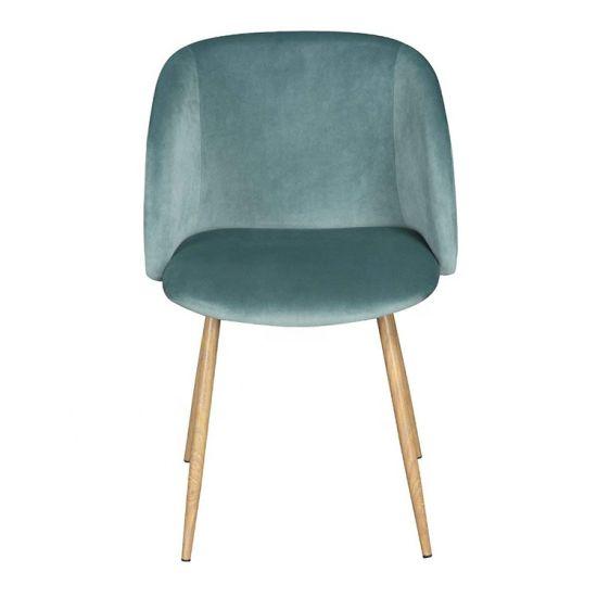 Cheap Metal Legs Velvet Lounge Leisure Dining Chair