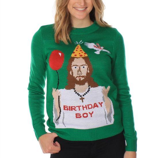 Adult Unisex Knitted Christmas Ugly Jumper Custom Men Christmas Sweater