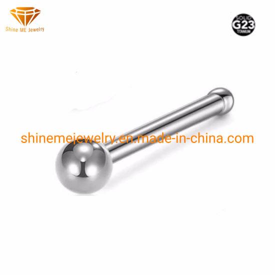 China Body Jewelry G23 Titanium Piercing Titanium Ball Nose Stud
