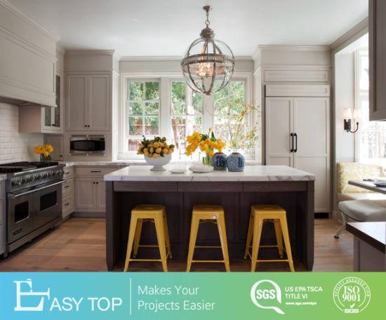 Oak White Shaker Whole Set Furniture Wood Veneer Solid Wood Kitchen Cabinet