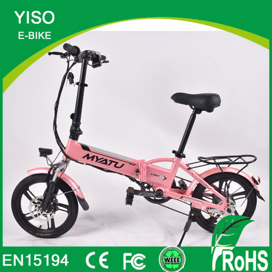 36 V 201-500W Foldable Electric Motorcycle with APP pictures & photos