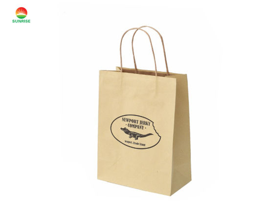 Stable Quality Brown Craft Paper Bag Custom Shopping Print for Clothing Packaging