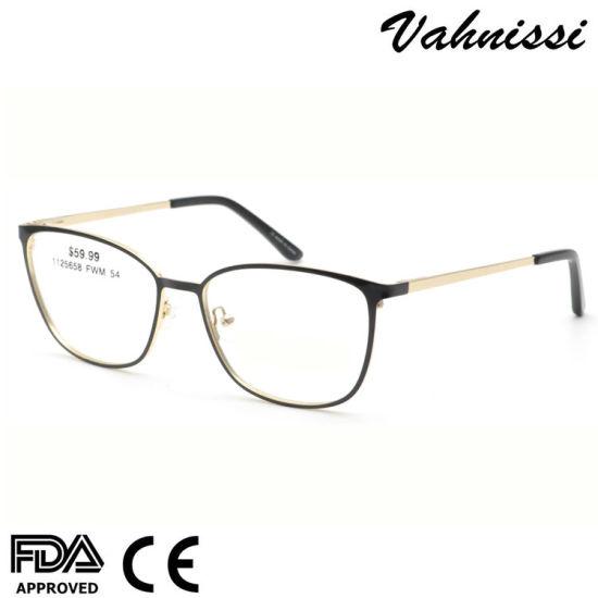 USA Female Stainless Steel Alloy Optical Eyeglasses Frames