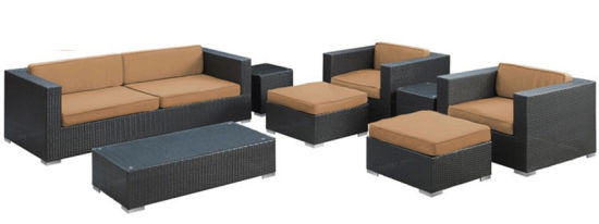 High Quality Wholesale Price Modern Patio Garden Rattan Outdoor Furniture Resin Wicker Sofa Set