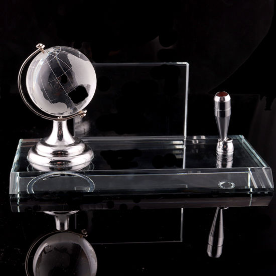 High Quality Crystal Pen Holder and Name Card (KS06050) pictures & photos