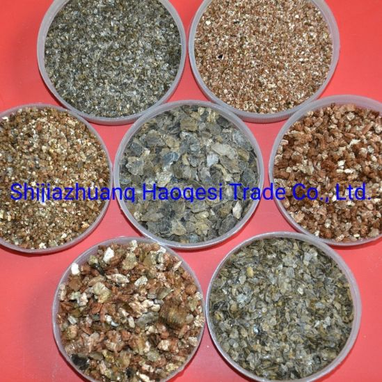 Golden Crude Vermiculite Brake Pads Used Exanded Vermiculite Silver Vermiculite pictures & photos