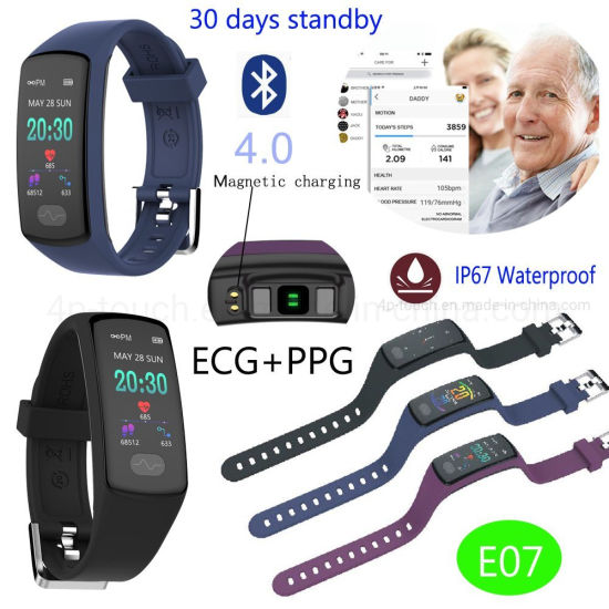 IP67 Waterproof Smart Watch Wristband with Fcg+PPG E07 pictures & photos