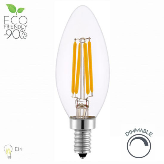 Clear Glass C35 Candle Filament Light 4W 4200k LED E14 Bulb pictures & photos