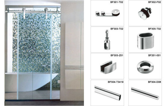 China Factory Price Frameless Shower Door Hardware With Simple
