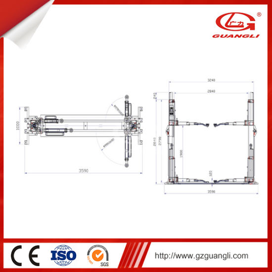 China Cheap Auto 4t Used 2 Post Car Lift for Sale - China Hydraulic Two  Post Car Lift, Car Lift   Two Post Car Lift Schematic      GZ GUANGLI EFE CO., LTD.