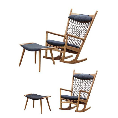 Amazing Wholesale Outdoor Furniture Leisure Fabric Padded Seat Mesh Rope Back Wooden Lounge Chair Machost Co Dining Chair Design Ideas Machostcouk