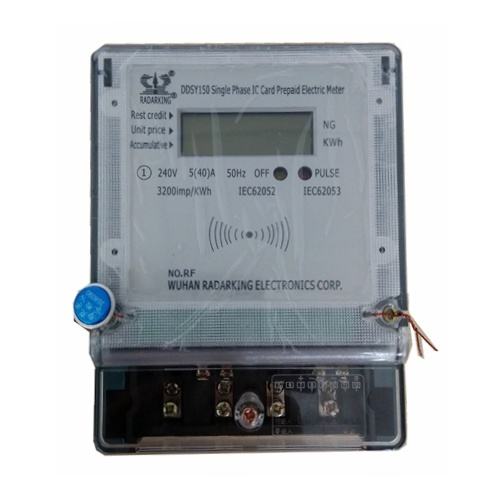 RF Single Phase LCD Display Smart Card Prepaid Electric Meter