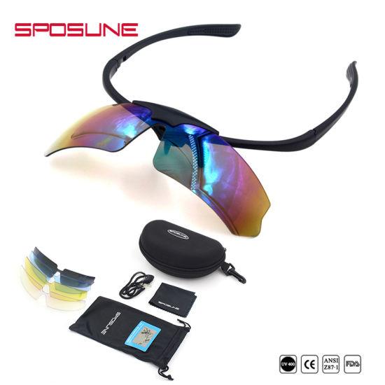b2e95ab7832 Premium Anti-UV400 Welding Safety Glasses Black Frame Polarized Lens Cycling  Fishing Hiking Travelling Lift up Wrap Around Sunglasses