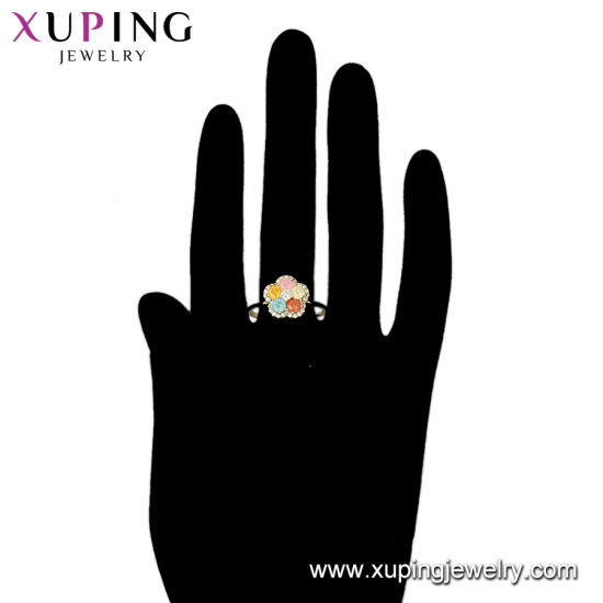 15409 Popular Fashion Gold-Plated Specail Shape Diamond Jewelry Ring in Nickel Free for Women pictures & photos