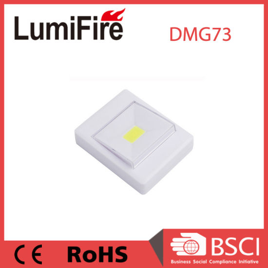 Battery Operated 3W COB LED Wall Small Switch Night Light pictures & photos