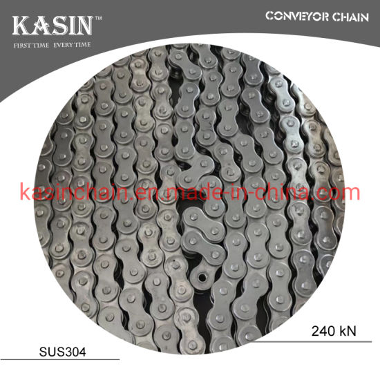 08b ISO Standard Stainless Steel Industrial Transmission Roller Chain with High Tensile Strength for Drving Machine