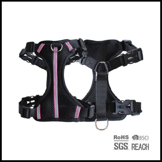 Pet Supply Reflective Safety Air Mesh Pet Dog Vest Harness and Leash Set