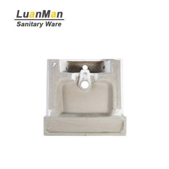 Ceramic Semi Recessed Basins Bathroom Sink With Two Sizes Sanitary Ware Toilet Basin 507