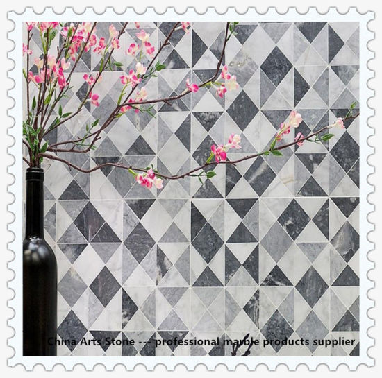 Polished Honed Waterjet Mosaic Marble Tile for Floor and Wall Decoration Project