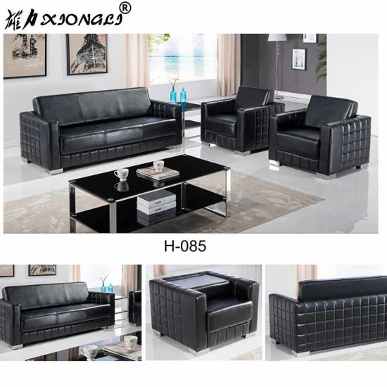 H 085 Modern Office Executive Leather Sofa Set