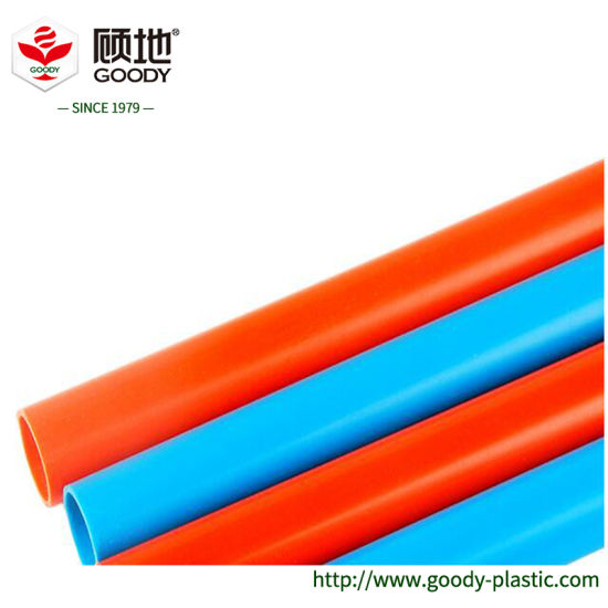 China Goody Brand Red And Blue Home Decoration Upvc Electric Conduit Pipe China Decorative Conduit Electrical Wire Pipe And Electrical Conduit Price