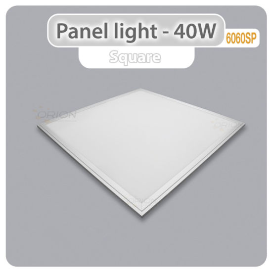 Non-Flickering Square Panel LED Light 40W 600X600 LED Panel Light pictures & photos