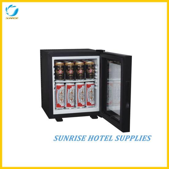 China 20l No Noise Hotel Glass Door Mini Fridge China Minibar