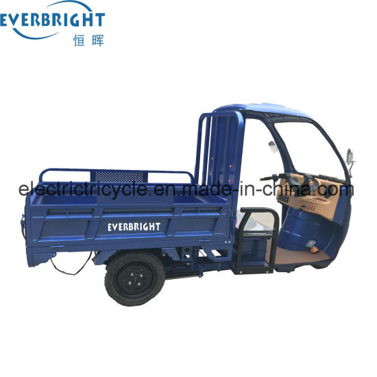 60V1000W 3 Wheel Electric Cargo Trike Headlight, 500kg Loading 50ah E-Tricycle