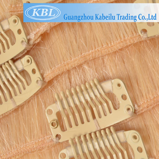 Full Cuticle European 613# Blond Color Hair Weft pictures & photos
