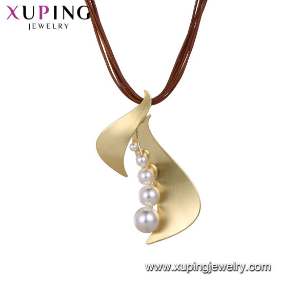 Necklace-00625 Xuping Fashion Rhodium Color with Stones and Beads Necklace pictures & photos