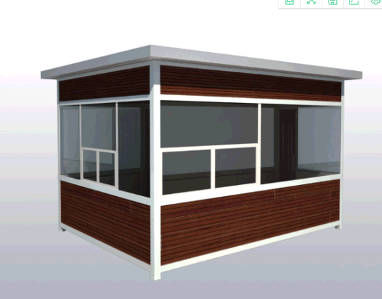 Qualified Light Steel Prefab Sentry Box/Guard House pictures & photos