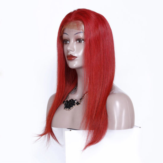 Wholesale Red Lace Frontal 13*6 Wigs Brazilian Hair Human Hair