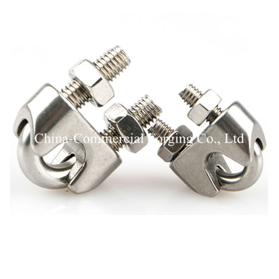 China Professional Manufacture Forged Metal Clips Clamps Wire Rope ...