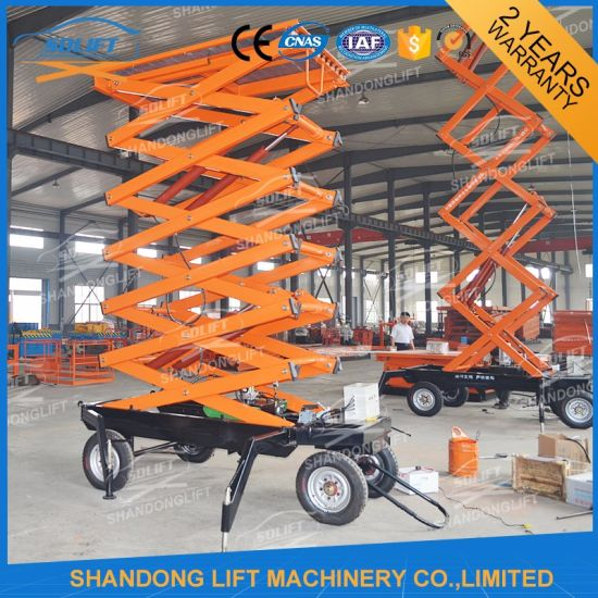 Hydraulic Vertical Electric Telescopic Ladder Man Scissor Lift pictures & photos