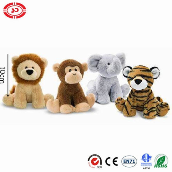 Animal Lion Tiger Monkey Elephant Plush Soft Sitting Cute Toy