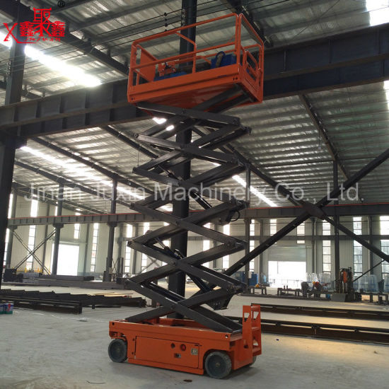 300kg Load Capacity 8m 10m 12m Hydraulic Self Propelled Mini Scissor Lift Table Platform with Ce ISO Certification