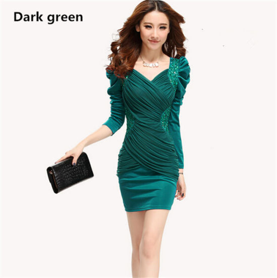 China Plus Size Women Long Sleeve Slimming Embroidered Free Prom ...
