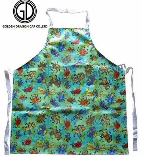 Wholesale Polyester Cotton Colorful Waterproof Beetles Printing Apron pictures & photos
