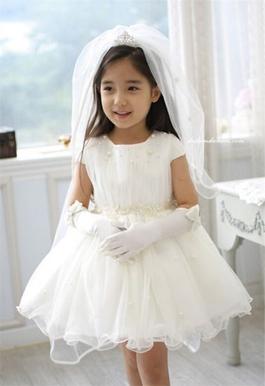 Kd1075 Hot High End Flower Full Dress Bridesmaid Short Sleeve Pretty Beaded Tutu Dresses Evening Gowns For Retail