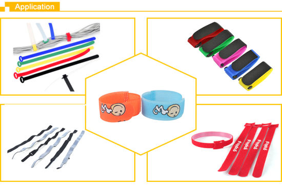 New Style Hook and Loop Cable Ties Colorful Fastener Tape