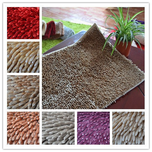 Home Use Mircrofiber Anti-Slip Chenille Floor/Door/Bathroom Rug pictures & photos