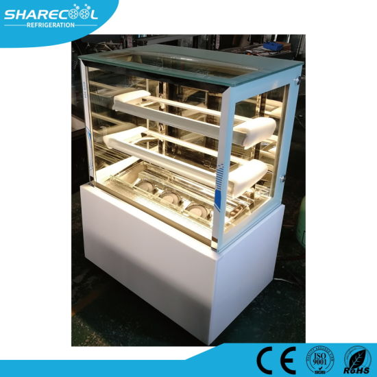 Glass Door Cake Showcase Refrigerator