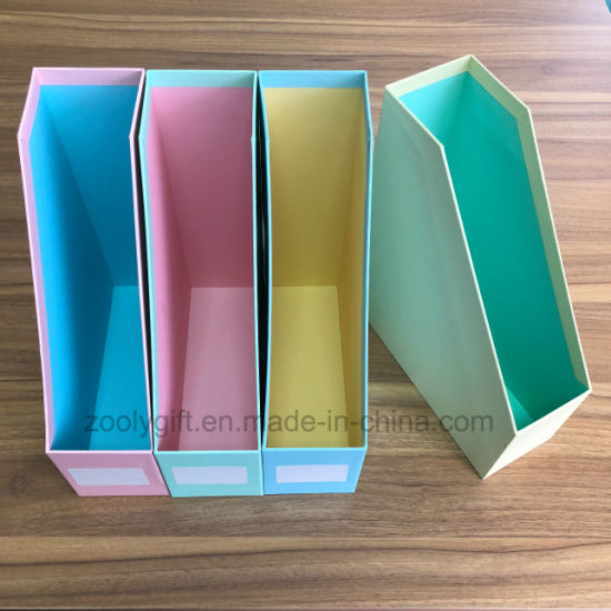 Office Stationery Multi Color Cardboard Magazine File Holder Desktop Documents File Holder Box