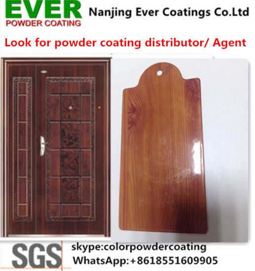 Security Door Sublimation Print Wood Finish Polyester Powder Coating Powder Paint pictures & photos